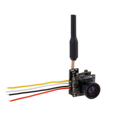 Turbowing 5.8G 48CH 25mW NTSC/PAL 700TVL FPV Camera and Transmitter with OSD Support