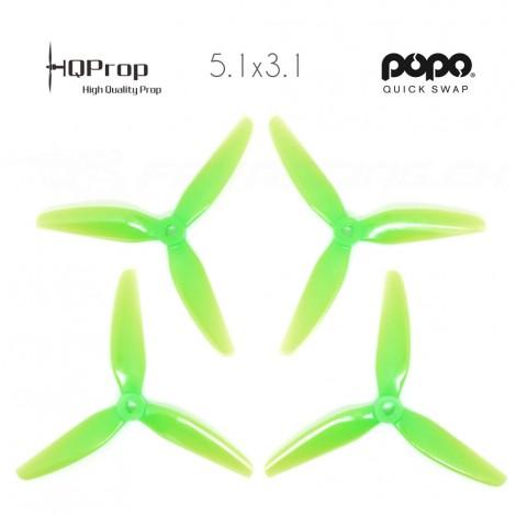 HQProp DP 5.1x3.1x3 Durable PC Propeller - Light Green (Triblade)