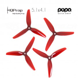HQProp DP 5.1x4.1x3 Durable PC Propeller - Licht Rot