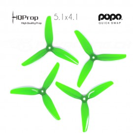 HQProp DP 5.1x4.1x3 Durable PC Propeller - Light Green