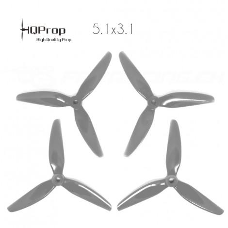 HQProp DP 5.1x4.1x3 Durable PC Propeller - Grey