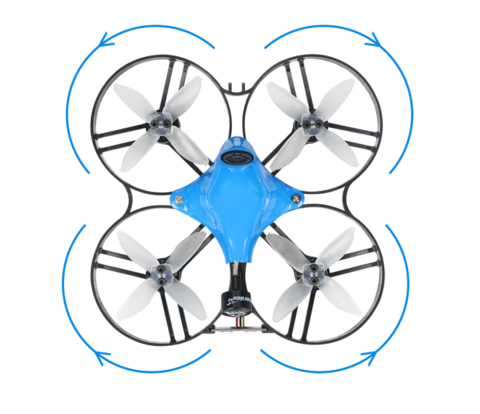 Beta85X reversed prop configuration